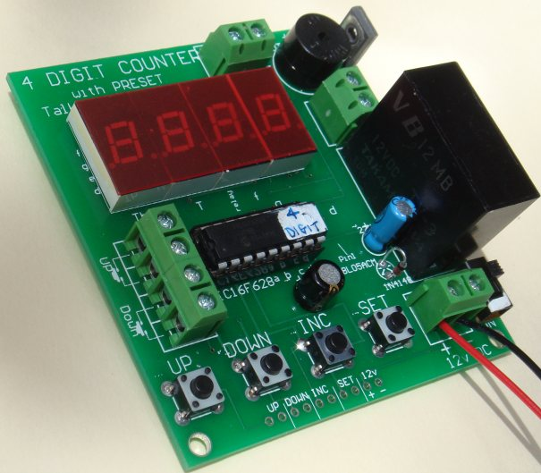Display Counter Circuit Board : Digit up down counter