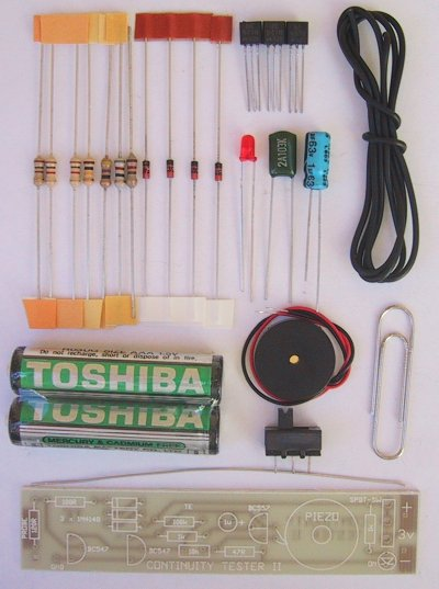 Continuity Tester Kit on transistor tester circuit